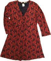 NEW IN! Lovely SEASALT Lemon Tunic Top Dress Blouse Terracotta Orange Floral 10