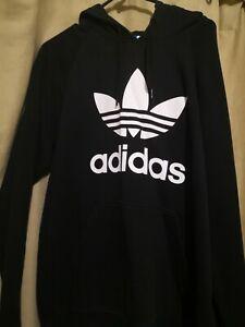 Adidas L Black Trefoil Hoodie