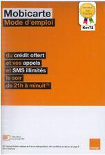 Carte sim prépayée orange 4G mobicarte 5€ de crédit inclus sans abonnement