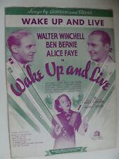 Wake Up and Live 1937 Walter Winchell Alice Faye Ben Bernie by Gordon & Revel