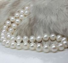 """18"""" AAA 10-11 MM SOUTH SEA NATURAL White PEARL NECKLACE 14K GOLD CLASP"""