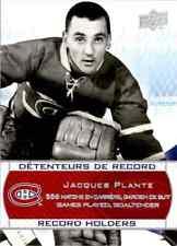 2008-09 Upper Deck Montreal Canadiens Centennial Set Jacques Plante #246