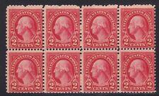 USA 1923 MNH GEORGE WASHINGTON REGULAR ISSUE BLOCK OF 8 LOT # 5