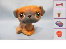 Littlest Pet Shop Dog Pug 2 and Free Accessory Authentic Lps