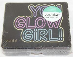 Yoobi Mini Supply Kit Desk Set You Glow Girl! Black Box Hot Pink Contents