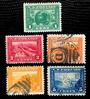 1913 US Stamps SC#397-400 400A Panama-Pacific Issue CV:$56