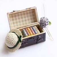 Miniature Wood Suitcase Kids Toy Coffee 5.8*3.2*3.1cm Vintage Leather Luggage BB