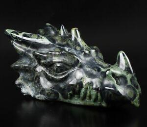 "NEW DESIGN 6.1"" KAMBABA JASPER Carved Crystal Dragon HEAD, Crystal Healing"