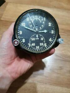 AChS-1 АЧС-1 MIG Su2 Military Air Force Aircraft Cockpit Clock USSR
