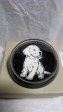 ONLY $1.99 DECOR GLASS PAPERWEIGHT OF SMALL LAB  RETRIEVER DOG PUPPY DECOR ITEM