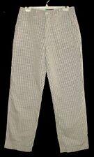 Sz 32 Men's Pants HELLOHELLO SAN FRANCISCO Poly/Cotton Brown Plaid USA
