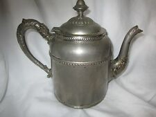 Vintage Rochester Stamping Works Coffee/Tea Pot /Silver Plated Copper c1900-1909