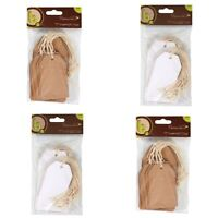 Hessian Strung Recycled Kraft Card Eco Luggage / Price Blank Tags - FULL RANGE