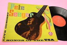 PETE SEEGER LP LIVE HOOTENANY ORIG 1965 NM LAMIANTED COVER TOOOPPP