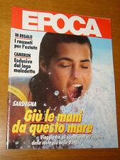 EPOCA 1986/1875=SPECIALE SARDEGNA=DINO VILLANI=GOFFREDO PARISE=FRANCO BARBERI=