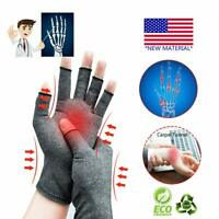 1 Pair Copper Arthritis Compression Gloves Hands Support Joint Pain Relief USA