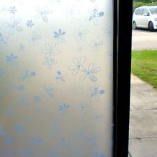 Fleurs lilas givré confidentialité décoratif film de fenêtre 90 cm x 1m Rouleau wt022