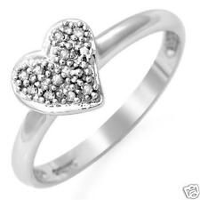 Diamond Heart PromiseRing-0.03ctw10kwg-Valued $569.00