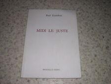 1986.midi le juste / Zumthor.envoi autographe.poésie