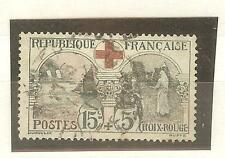 TIMBRE FRANCE OBLITERES YVERT N°156 COTE € 70 CROIX ROUGE