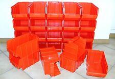 26 Stück Stapelboxen Gr.3  *  248x145x127mm  *  rot PP  *  NEUWARE