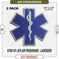 Star of Life Air Freshener Paramedic EMT Ambulance Patch Badge Car Truck - D 110