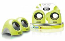 Nuevo: Sweex altavoces set lemon and Lime USB 2.0, Plug & Play, boxeo, nuevo & OVP