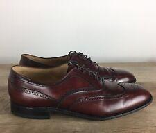 Johnston & Murphy Wingtip Oxfords Mens Size 8 Aristocraft Burgundy Laces Shoes