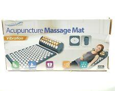 Health Touch Acupuncture Massager Mat Vibration Back Neck Massage Pillow Travel