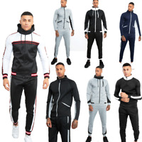 JUSTYOUROUTFIT Mens DoubleTone/Collar Block Stripe Tracksuit with Panel Detail
