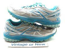 Women's Brooks Adrenaline GTS 13 White Bluebird Hibiscus Running Shoes sz 8.5