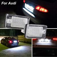 2PCS LED License Plate Lights Lamps for Audi A3 A4 B6 B7 A6 A8 Q7 A5 Error Free