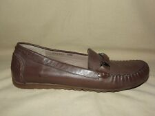 "BRAND NEW  ""ROSE PETALS"" ELM BY WALKING CRADLES BROWN LEATHER LOAFER SIZE 8WW"