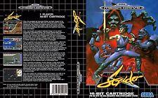 Strider Sega Mega Drive PAL Replacement Box Art Case Insert Cover Reproduction