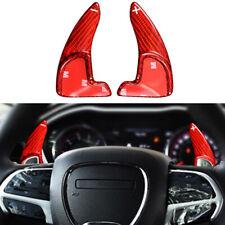Real Carbon Fiber Steering Wheel Shift Paddle Shifter For 15-21 Dodge Challenger