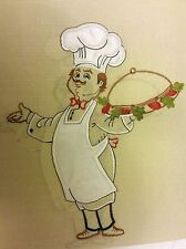 """3 pc. Embroidery Curtains Set: 2 Tiers 30""""x 36"""" & Swag 60""""x36"""", FAT CHEF JUBILEE"""