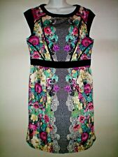 SIZE 16 DRESS BY DOROTHY PERKINS NEW WITH TAGS black floral  great gift