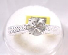 Green Amethyst (Prasiolite) (8mm) Sterling Silver Solitaire 1.60Ct  Ring Size 8