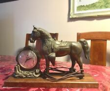 Vintage mantel Lincoln horse clock