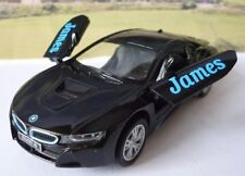 PERSONALISED NAME Gift Black BMW i8 Boys Toys Dad Car Model Xmas Stocking Filler