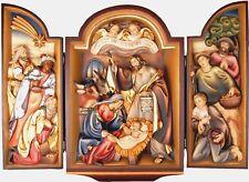Schmuckstück geschnitztes Krippenbild, Weihnachtskrippe, Holz, Nativity