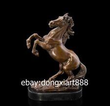 37CM Western Art Deco Bronze Copper Marble Fine Horse Equine  Ornament Sculpture