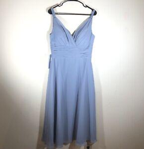NWT Azazie Jayla Dress Dusty Blue Bridesmaid Formal Long Women's Size A10