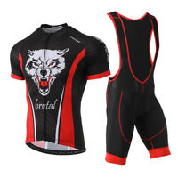 Mens Cycling Jersey Set Bike Bicycle Short Sleeve Clothing and Bib Shorts M-3XL