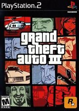 Grand Theft Auto III 3 [PlayStation 2 PS2, NTSC, GTA Shooting Driving] NEW