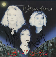 "Bananarama - English Female Pop Duo - In Person Signed 7"" Record Cover."