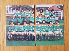 AVA Americana Football Special '79 - 4 Northern Ireland Team Photo Stickers 1979