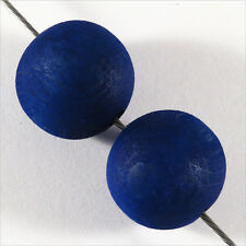 Lotto di 20 perline rotonde in legno Blu All'estero 16mm per Creazione Gioielli