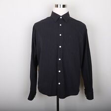 Haggar Button Down Casual Dress Shirt Men XL Long Sleeve Pin Stripe