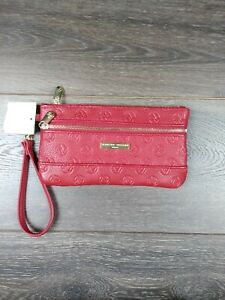 Adrienne Vittadini Wallet Wristlet RFID Protection wallet red wallet